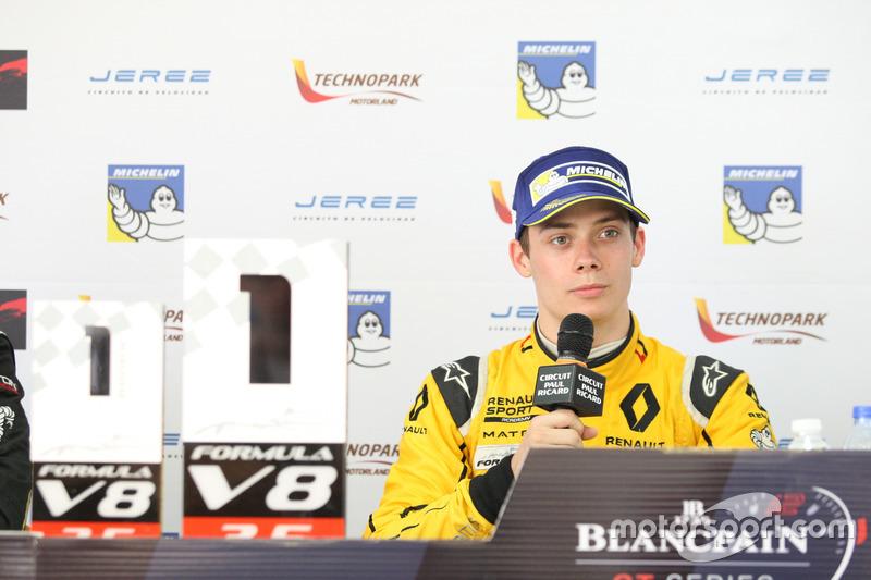 Basın Toplantısı 1. Louis Deletraz, Fortec Motorsports