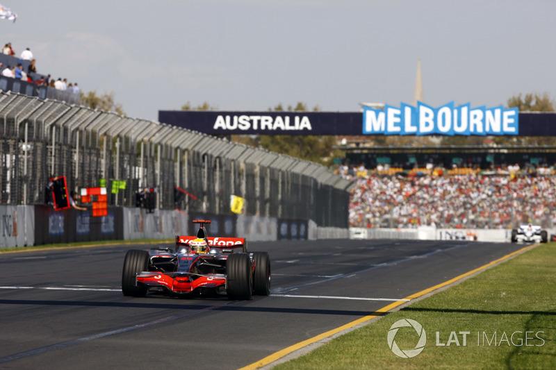 Australia 2008: Lewis Hamilton, McLaren MP4-23