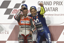 Winner Andrea Dovizioso, Ducati Team,third place Valentino Rossi, Yamaha Factory Racing