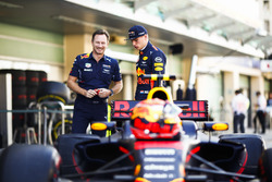 Christian Horner, Team Principal, Red Bull Racing, Max Verstappen, Red Bull