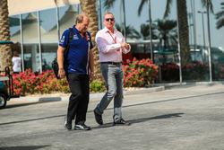 Robert Fearnley, Sahara Force India F1 Team Deputy Team Principal with Martin Brundle, Sky TV