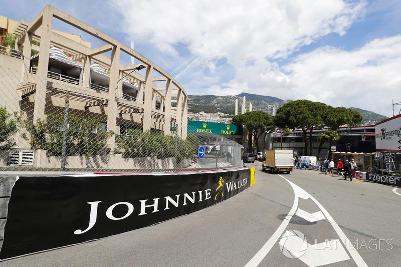 Sisi luar Anthony Noghes, area akhir Sirkuit Monako