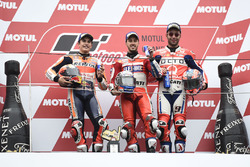 Podium: 1. Andrea Dovizioso, Ducati Team; 2. Marc Marquez, Repsol Honda Team; 3. Danilo Petrucci, Pramac Racing