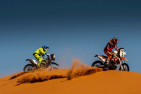 #69 KTM: Arunas Gelazninkas; #45 Sherco: Angelo Pedemonte