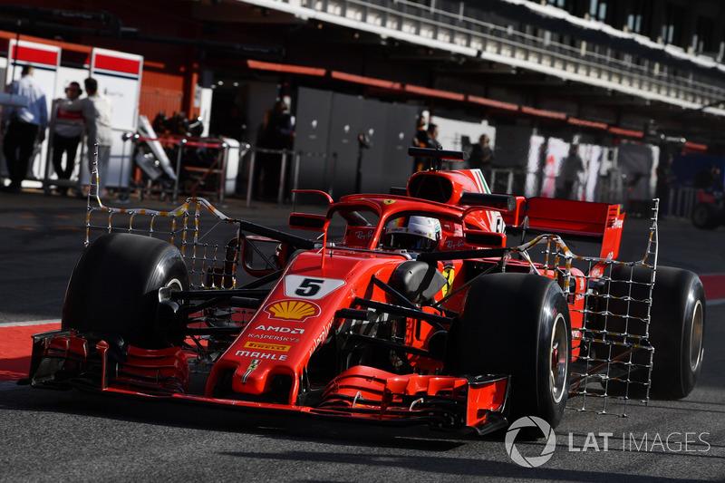 Sebastian Vettel, Ferrari SF71H with aero sensors