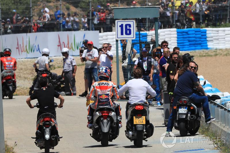 Dani Pedrosa, Repsol Honda Team, after crash