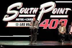Präsentation: Logo für den Playoffauftakt 2018 auf dem Las Vegas Motor Speedway