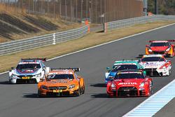Super-GT und DTM-Fahrzeuge auf der Strecke