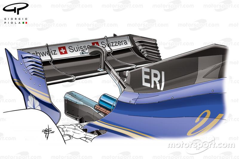Sauber C36 nieuwe motorkap