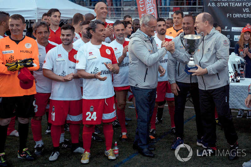 Claudio Ranieri, et SAS Prince Albert de Monaco