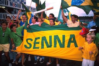 Tifosi di Ayrton Senna