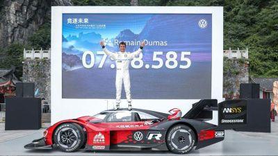 Volkswagen I.D. R sur le Mont Tianmen
