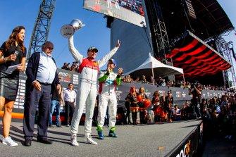 Runner up Loic Duval, celebrates on the podium