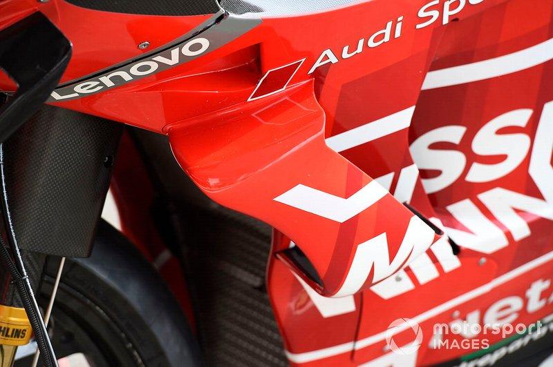 Detalle del carenado de Ducati