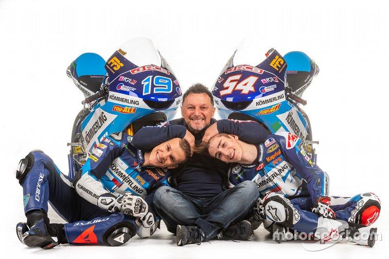 Gabriel Rodrigo, Fausto Gresini, Riccardo Rossi, Team Kömmerling Gresini Moto 3 project unveil