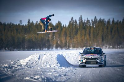 Snowboarding and WRC combine