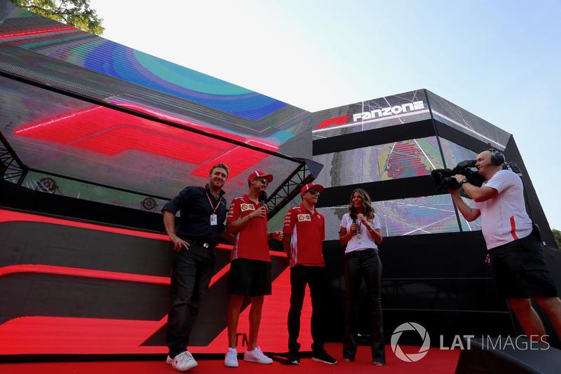 Sebastian Vettel, Ferrari ve Kimi Raikkonen, Ferrari, Fan Zone