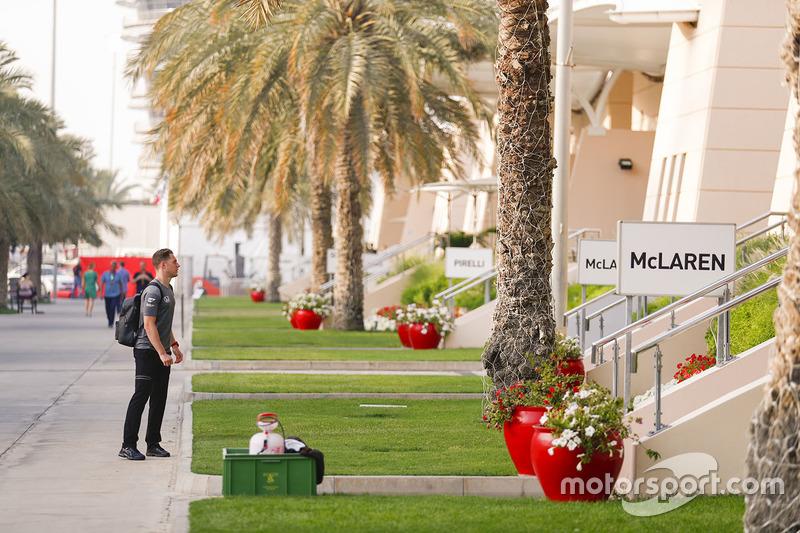 Stoffel Vandoorne, McLaren, in the paddock