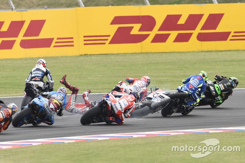 Sturz: Jorge Lorenzo, Ducati Team