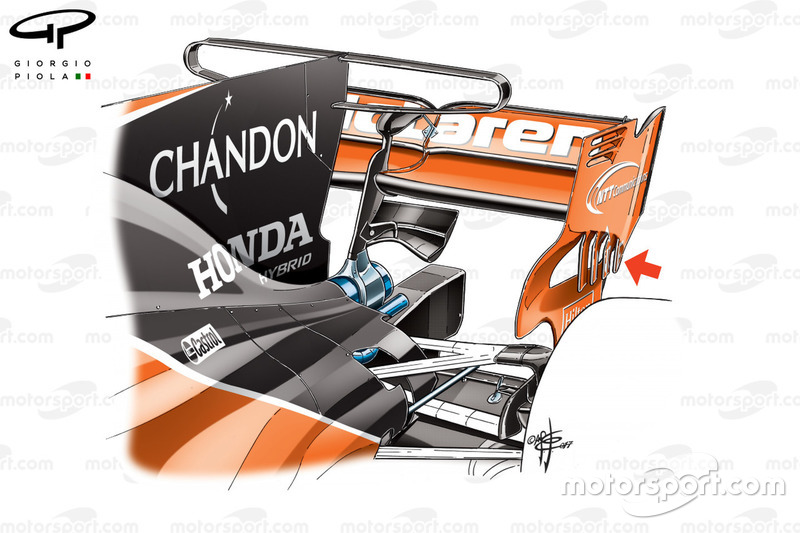 McLaren MCL32 T-wing