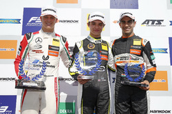 Rookie Podium: Winner Lando Norris, Carlin Dallara F317 - Volkswagen, second place Mick Schumacher,