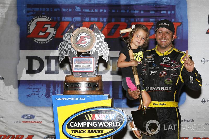 Ganador de la carrera Matt Crafton, ThorSport Racing Toyota