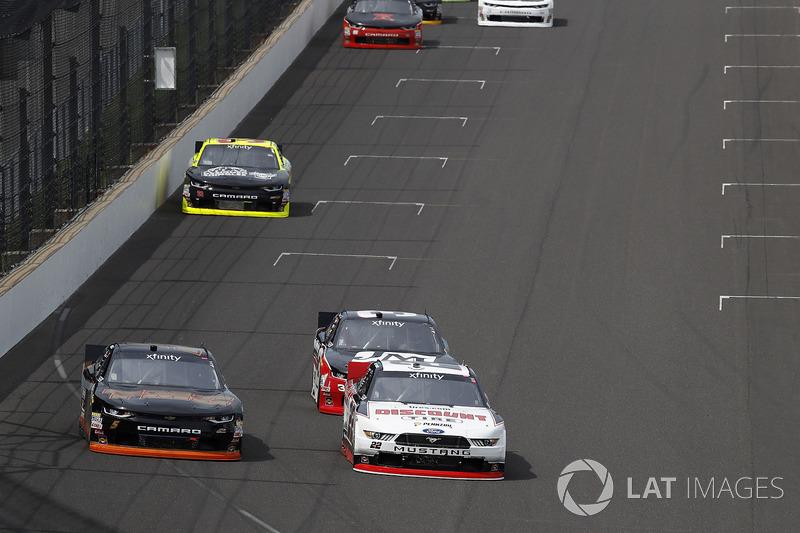 Michael Annett, JR Motorsports Chevrolet Joey Logano, Team Penske Ford