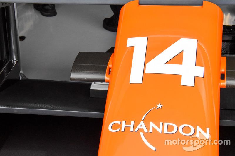 McLaren MCL32, burun detayı