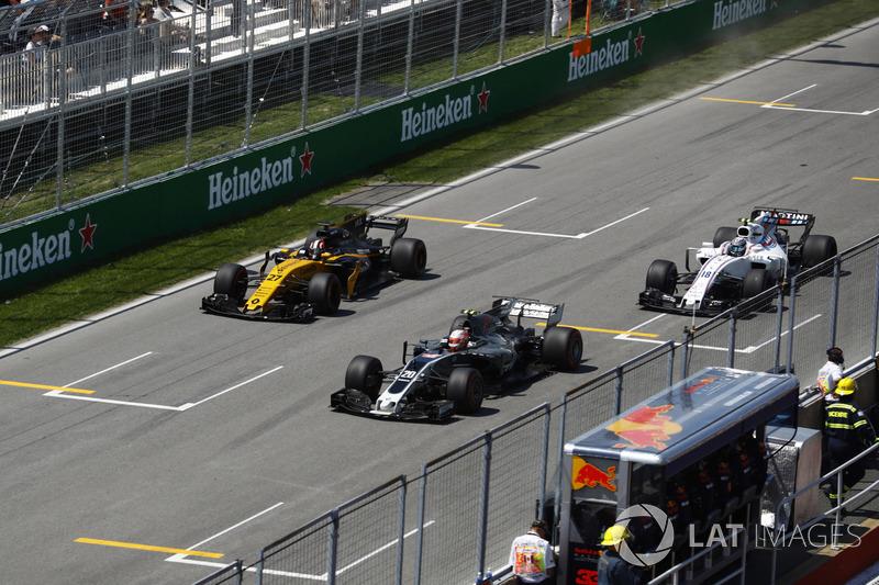 Кевин Магнуссен, Haas F1 Team VF-17, Нико Хюлькенберг, Renault Sport F1 Team RS17, Лэнс Стролл, Williams FW40