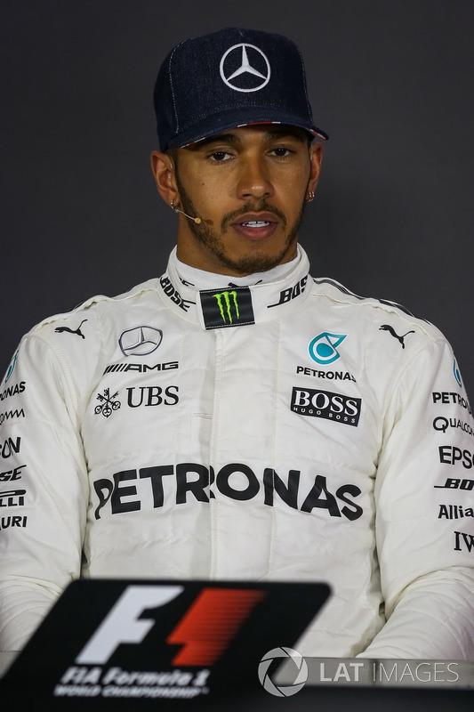 Lewis Hamilton, Mercedes AMG F1 en la Conferencia de prensa
