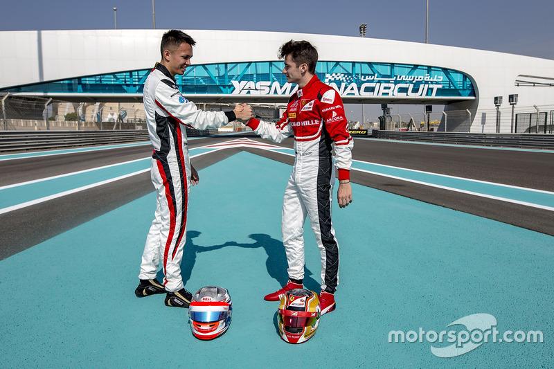 Alexander Albon, ART Grand Prix y Charles Leclerc, ART Grand Prix