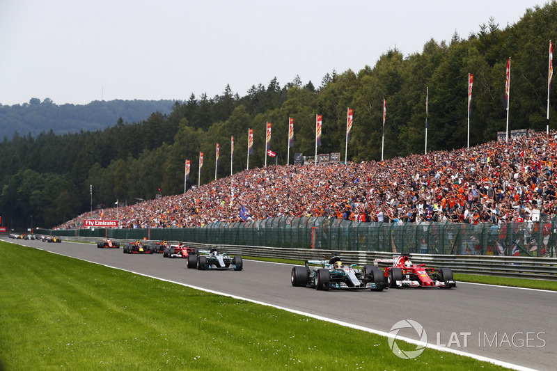 Resultado de imagen de Hamilton Vettel Spa 2017