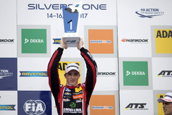Podium: Race winner Joel Eriksson, Motopark, Dallara F317 – Volkswagen