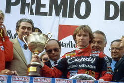 Didier Pironi, 1st position on the podium