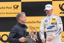 Podium: David Coulthard, Maxime Martin, BMW Team RBM, BMW M4 DTM