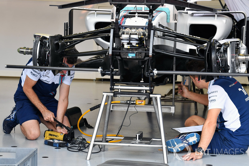 Williams FW40 ön süspansiyon