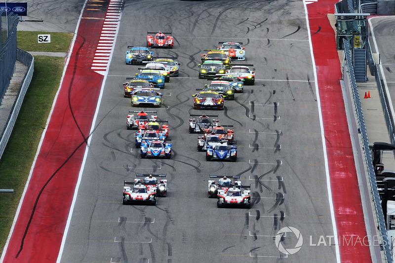 Старт: #1 Porsche Team Porsche 919 Hybrid: Ніл Яні, Андре Лоттерер, Нік Тенді лідирують