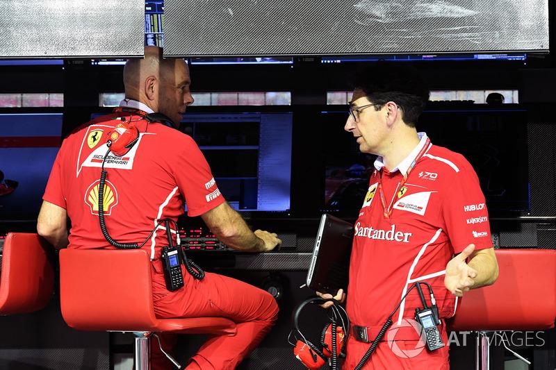 Jock Clear, Ferrari-Chefingenieur, Mattia Binotto, Ferrari-Technikchef