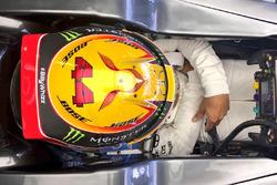 Lewis Hamilton, Mercedes AMG F1 F1 W08 con el lema #BillyWhizz