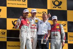 Podium: 2. Mike Rockenfeller, Audi Sport Team Phoenix, Audi RS 5 DTM; 1. Marco Wittmann, BMW Team RMG, BMW M4 DTM; Stefan Reinhold, BMW Team RMG; 3. Loic Duval, Audi Sport Team Phoenix, Audi RS 5 DTM