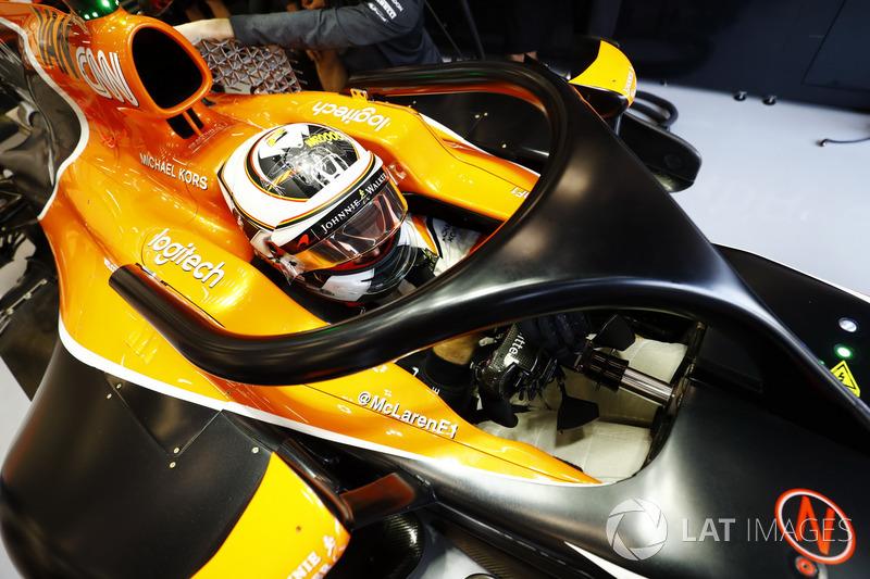 Stoffel Vandoorne, McLaren, con el Halo