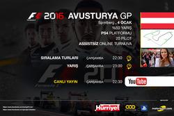 F12016 Online Turnuva Avusturya GP