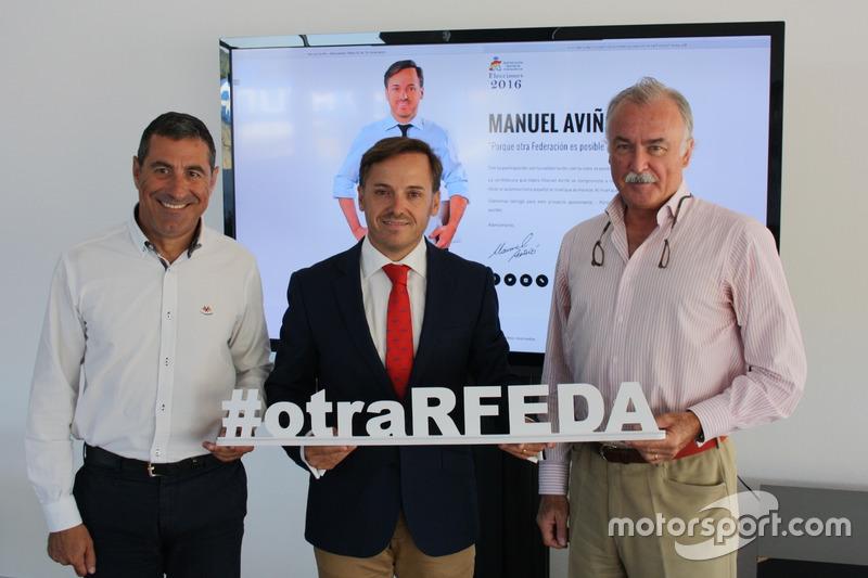 Miguel Fuster, Manuel Aviñó y Joaquín Verdegay