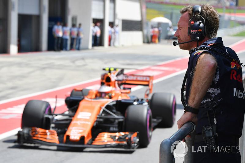 Christian Horner, Red Bull Racing, Teamchef, Stoffel Vandoorne, McLaren MCL32