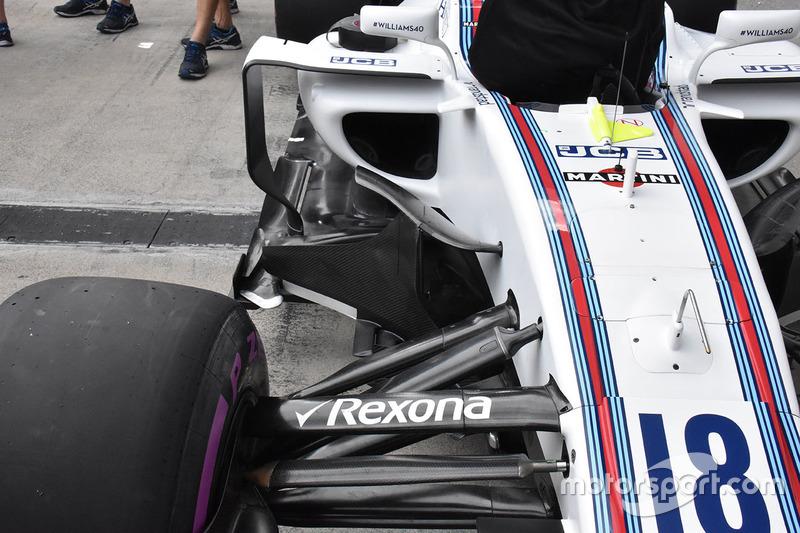 Williams FW40 sidepod detay