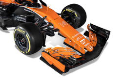 The McLaren MCL32 rear wing detail