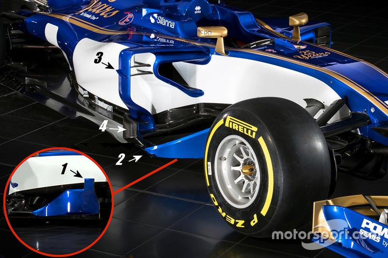 Sauber C36 sidepod detail