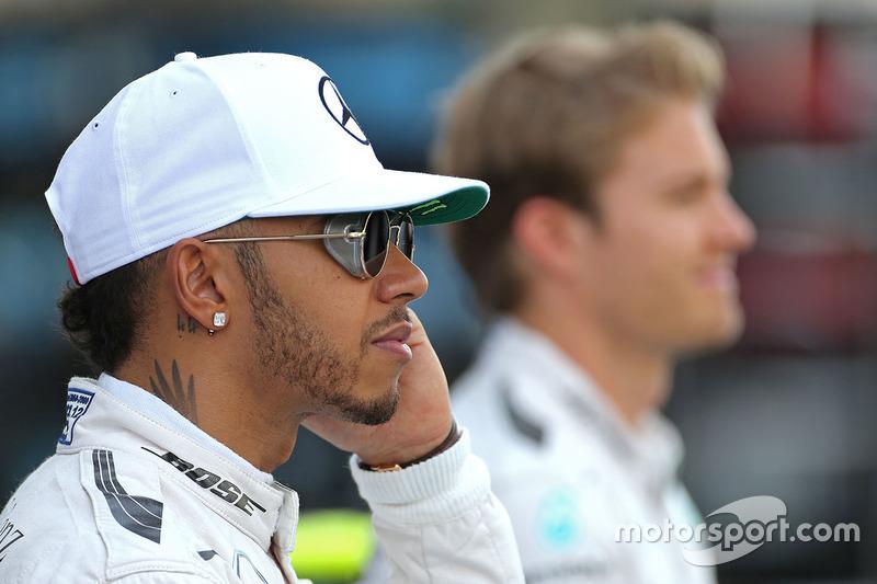 Lewis Hamilton, Mercedes AMG F1 und Nico Rosberg, Mercedes AMG F1