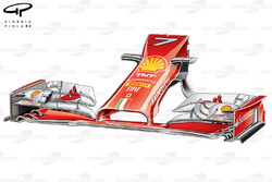 DUPLICATE: Ferrari F14 T front wing and nose