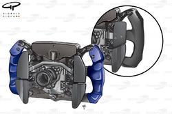 BMW Sauber F1.09 2009 steering wheel rear view